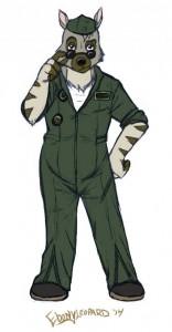 pilot pose